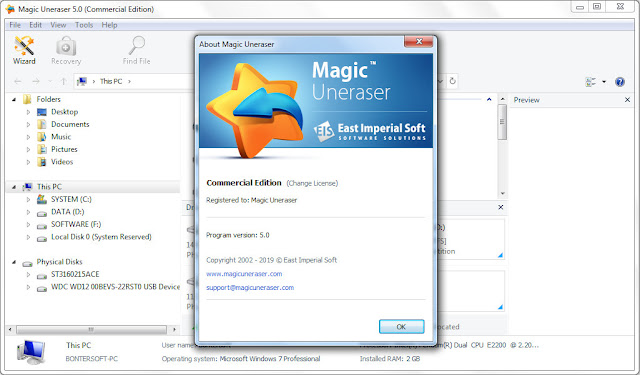 Screenshot Magic Uneraser 5.0 Full Version