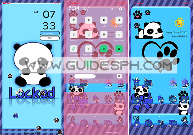 Oppo Theme: Panda Theme Free Download