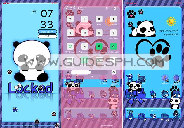Oppo Theme: Panda Theme Free Download