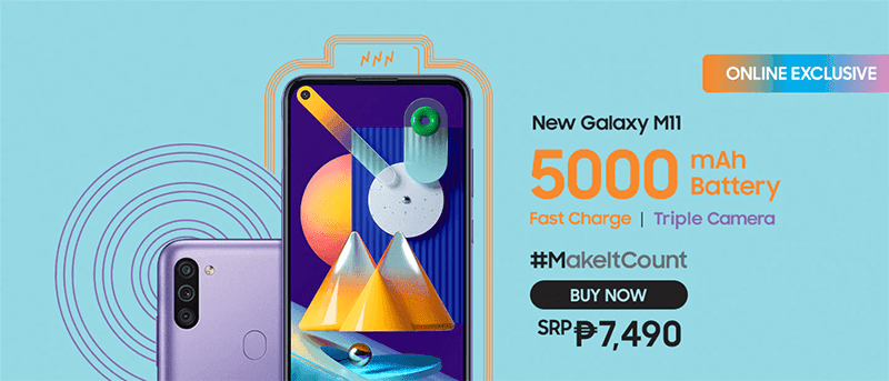 Samsung Galaxy M11 with SD450 is priced at PHP 7,490!