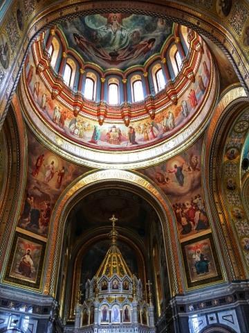 Moskwa, Sobór Wasyla Błogosławionego, wnętrze Soboru Wasyla Błogosławionego