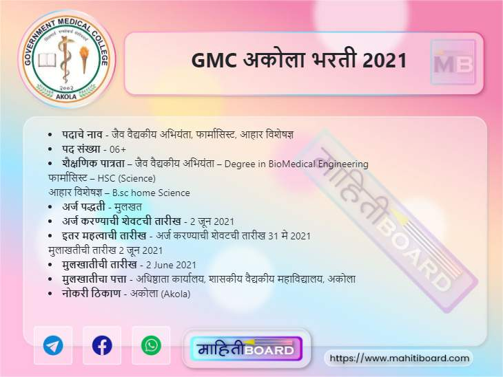 GMC Akola Bharti 2021