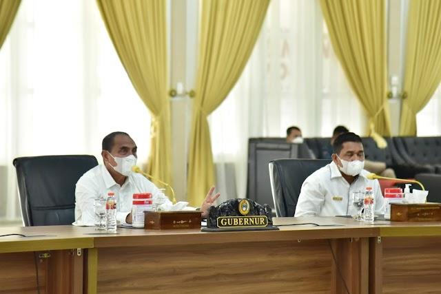 Gubernur Edy Rahmayadi Ingatkan Petugas Salurkan Bantuan Beras dengan Benar