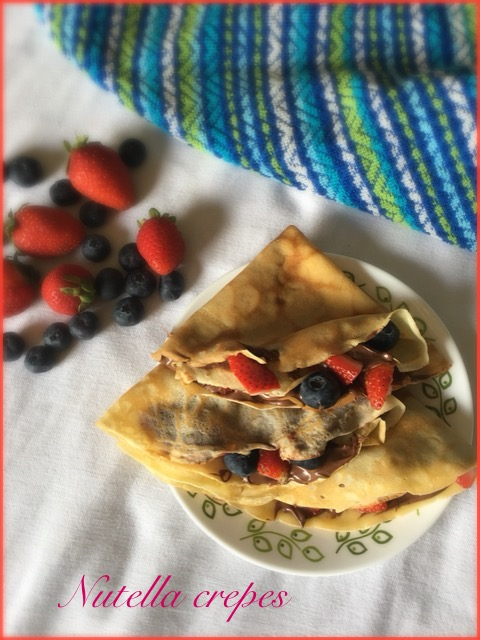 Nutella Crepes with Mixed Berries