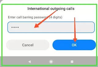 Call barring password Vodafone