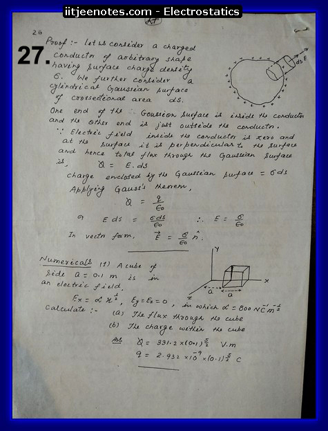 electrostatics hand written notes