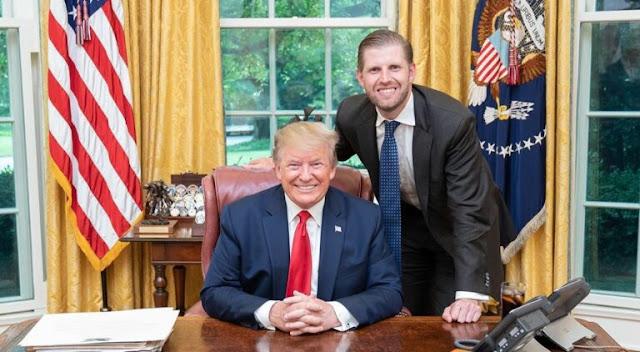 """Filho de Trump pede orações: """"É um verdadeiro guerreiro"""""""