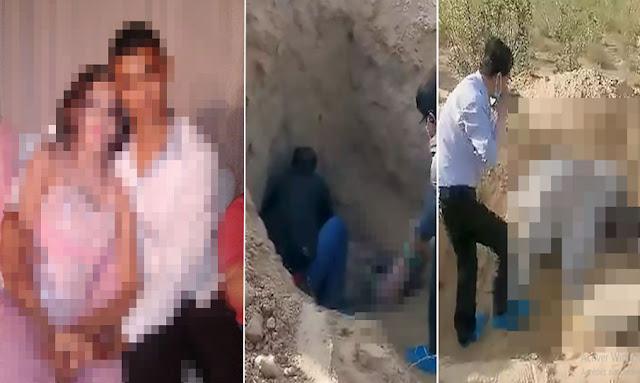 بالفيديو / يحدث في تونس : طلبت انها تفسخ خطوبتها من خاطيبها ... ياخي دفنها و هي حية !