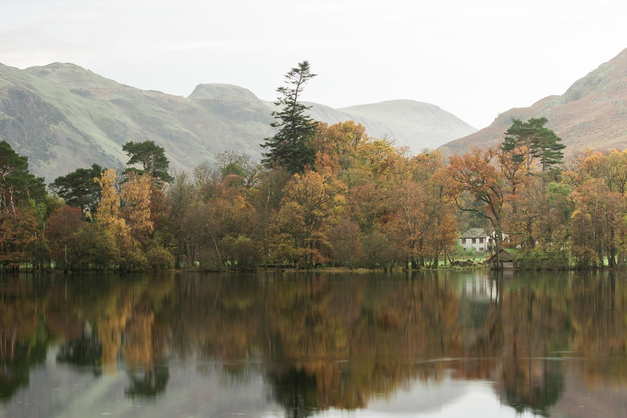 Ullswater lake in autumn