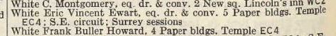 1941 Post Office London Directory, Barristers-at-Law section
