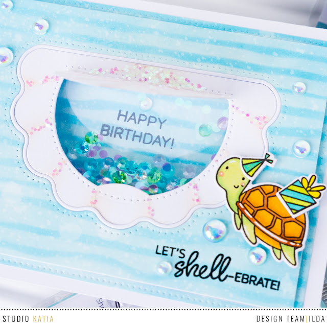 Studio Katia 2nd Anniversary Blog Hop and GIVEAWAY - Under the Sea Cards by ilovedoingallthingscrafty