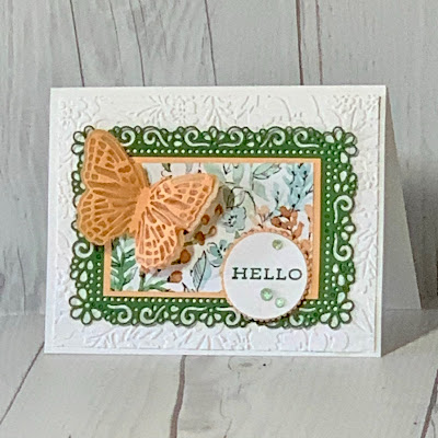 Floral butterfly card using Stampin' Up! Hand-Penned Suite
