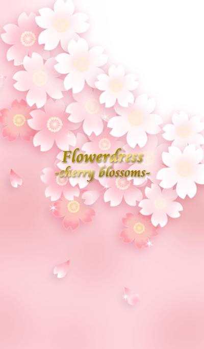 Flower dress -cherry blossom 1- *