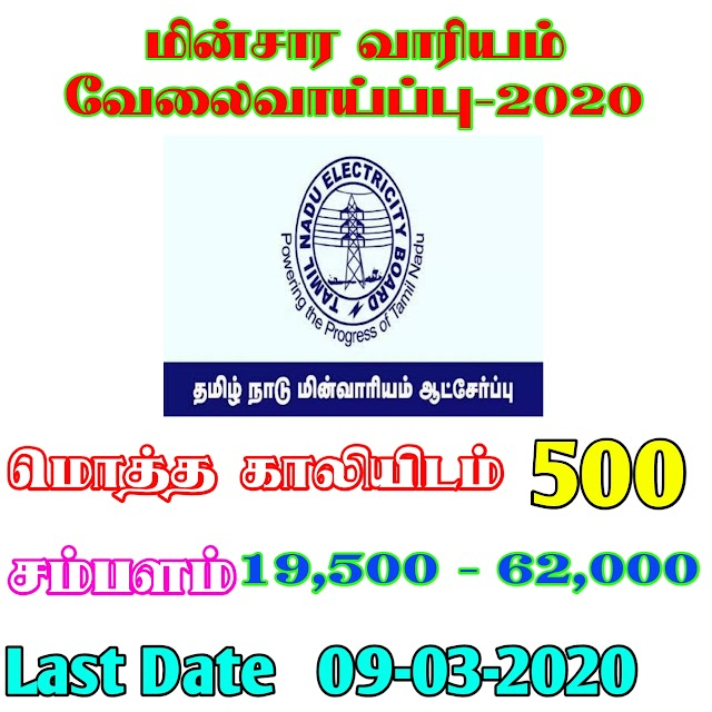 தமிழ்நாடு மாவட்ட வேலைவாய்ப்புகள் 2020