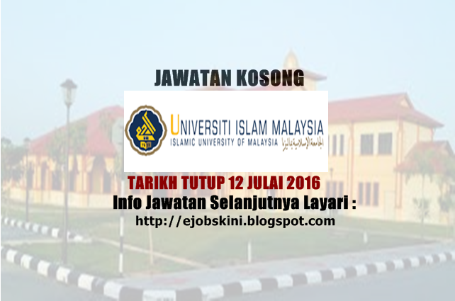 awatan Kosong Universiti Islam Malaysia (UIM)