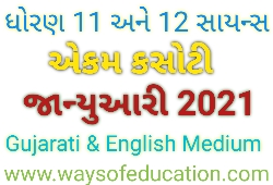 STD - 11 AND 12 GENERAL STREAM (ARTS AND COMMERCE) PERIODICAL ASSESSMENT TAST (PAT) PAPER FOR ALL MEDIUM JANUARY 2021 DOWNLOAD PDF NOW