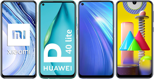 Xiaomi Redmi Note 9 Pro vs Huawei P40 Lite vs Realme 6 (8 GB RAM) vs Samsung Galaxy M31