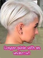 Longer pixie with an undercut