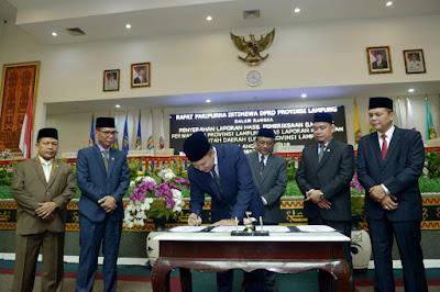 Dipimpin Ridho, Provinsi Lampung Raih Predikat Opini WTP Lima Tahun Berturut-turut