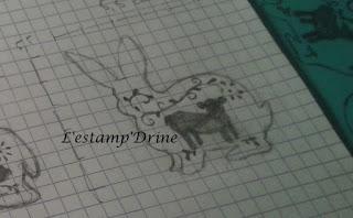 dessin du lapin de paques pour gravure
