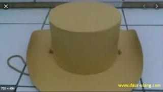 Cara Membuat Topi Koboi Dari Karton Bekas Yang Mudah Beserta Gambarnya