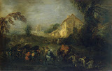 Hardships of War by Antoine Watteau - battle, History Paintings from Hermitage Museum