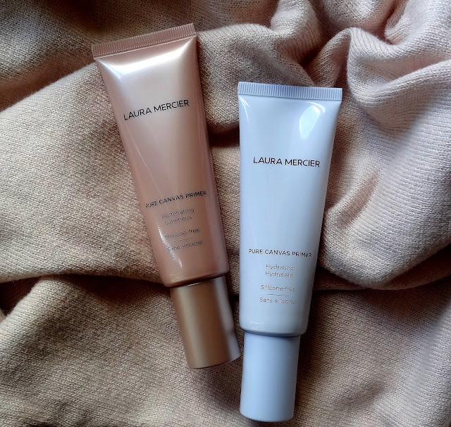 Laura Mercier Pure Canvas Hydrating And Illuminating Primers Review, Photos