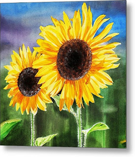 Bestselling Sunflower Painting by the artist Irina Sztukowski
