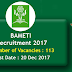 BAMETI Recruitment 2017 For 113 Agri Business Facilitators & More