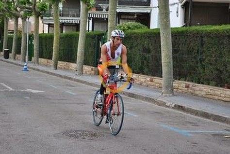 fotos extreme man salou 2014 triatleta ciclismo bici pitufollow
