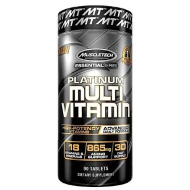 MuscleTech Platinum Multivitamin, 90 tablet(s), Unflavoured