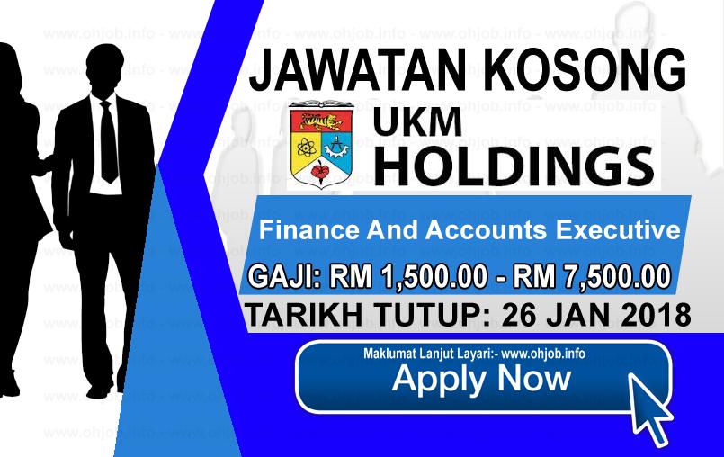 Jawatan Kerja Kosong UKM Holdings Sdn Bhd logo www.ohjob.info januari 2018