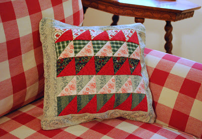 patchwork pillow cover for Christmas