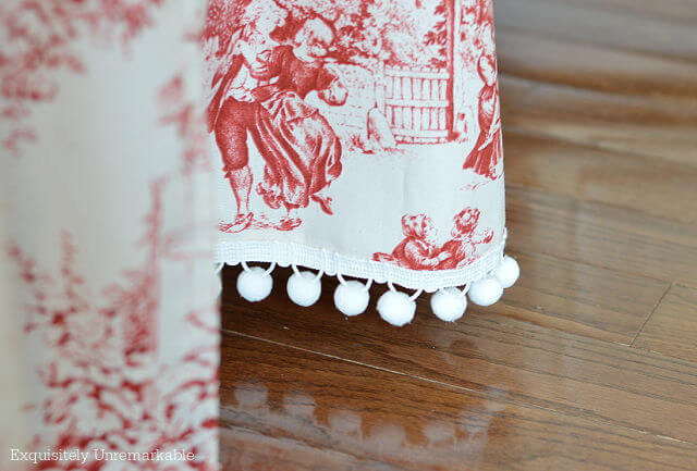 Red Toile Fabric