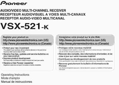 Pioneer VSX-521-K Manual