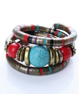 Colorful Bohemia Folk Style Beaded Bracelet