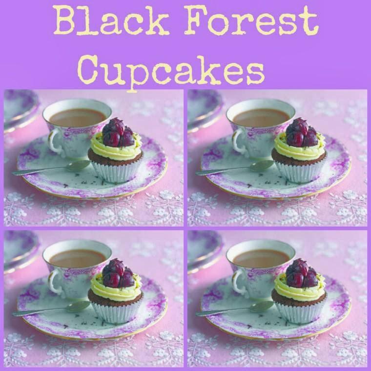 Black Forest Cupcakes: Posh 70's Cakes