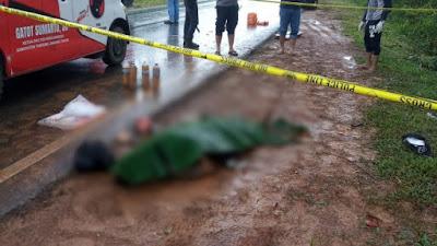 mayat pinggir jalan hutan wks