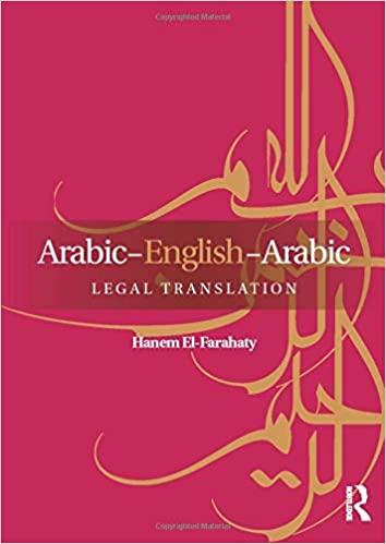 Arabic-English-Arabic Legal Translation free Pdf