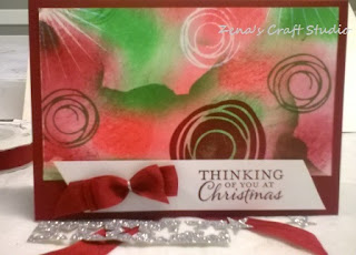 One sheet wonder christmas card Zena Kennedy independent Stampin Up demonstrator
