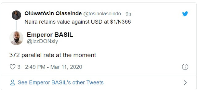 Panic buying: Dollar 'becomes scarce' in Lagos, Abuja as naira hits 375