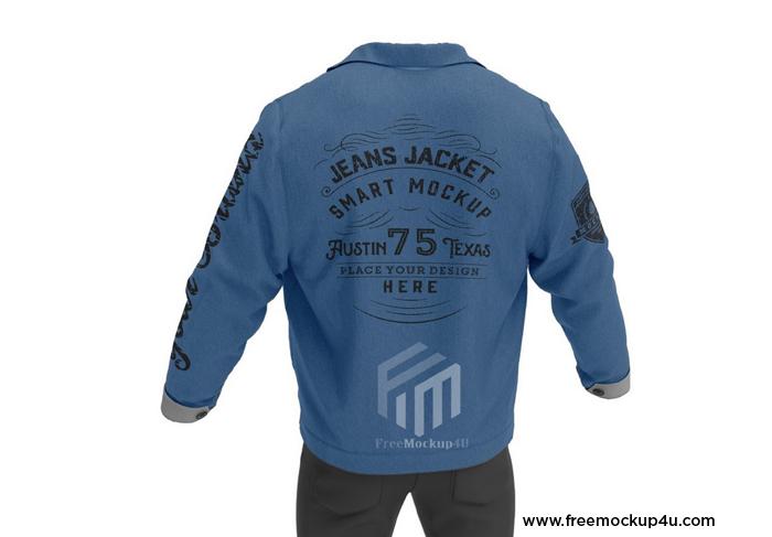 Jeans Jacket Smart Mockup Psd Free Download