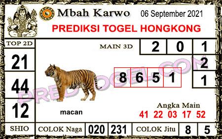 Prediksi Mbah Karwo Hk Senin 06 September 2021