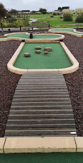 Crazy Golf at Medmerry Park in Earnley. Photo by Christopher Gottfried, October 2019