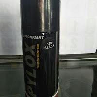 Cat Semprot Merk Pilox warna Hitam-RX-Z Biru