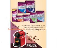 Logo Con Lines Specialist puoi vincere 1 macchina da caffè da Acqua&Sapone e La Saponeria