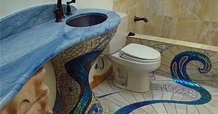 Arquitectura de casas ba o decorado con mosaicos exquisitos - Banos decorados con mosaicos ...