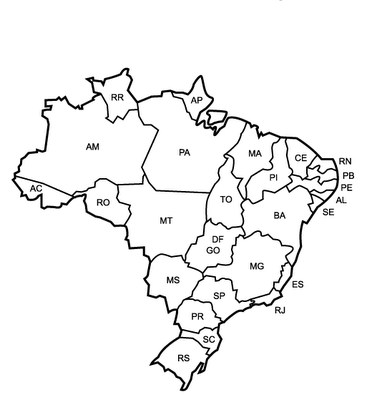 mapa político do brasil para colorir espaÇo educar