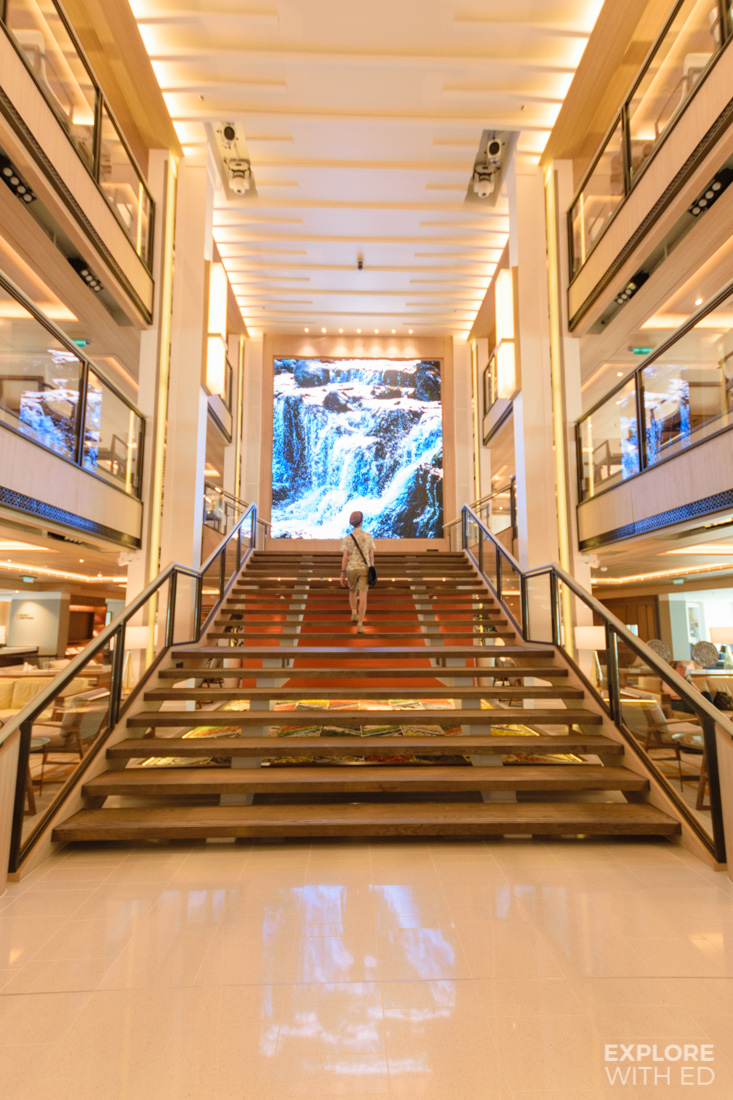 Beautiful Atrium area onboard Viking Sea Ocean Cruise Ship