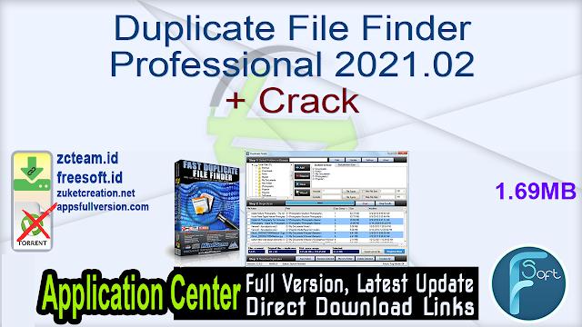 Duplicate File Finder Professional 2021.02 + Crack_ ZcTeam.id